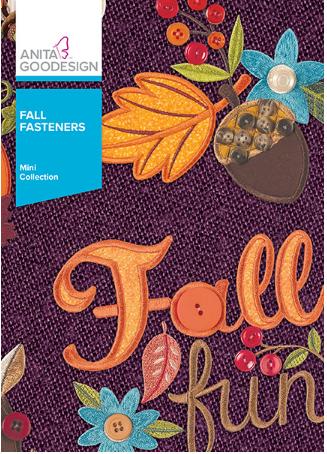 Anita Goodesign Fall Fastners Embroidery Design