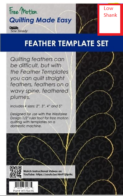 Feather Template Sew  Low Shank