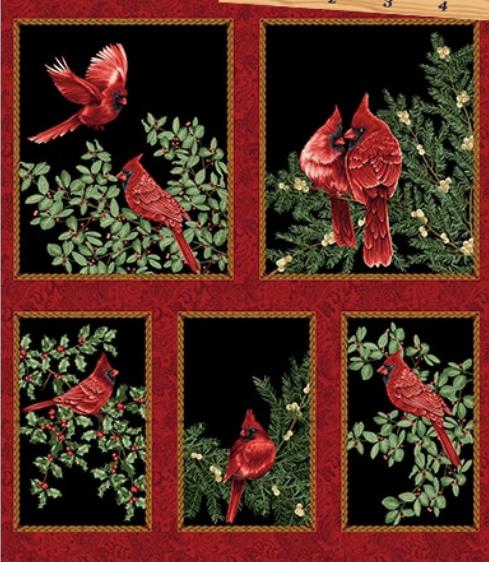 A Festive Season Panel by Benartex 100% Cotton Fabric Style 2640M Color 12