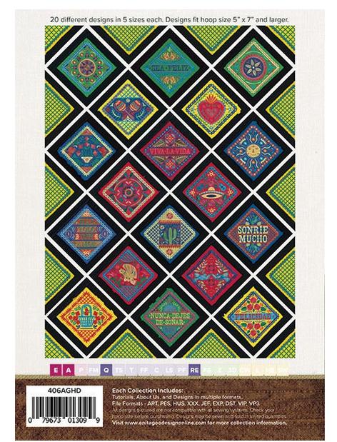 Anita Goodesign Fabric Fiesta Embroidery Design