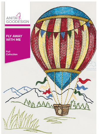 Anita Goodesign Fly Away With Me Embroidery Design