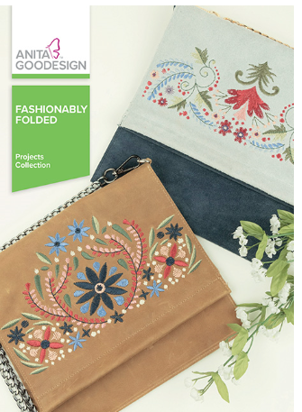 Anita Goodesign Fashionably Folded Projects Collection Embroidery Designs