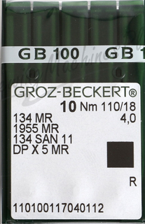 Groz-Becker Needles 110/18 (10 PK)