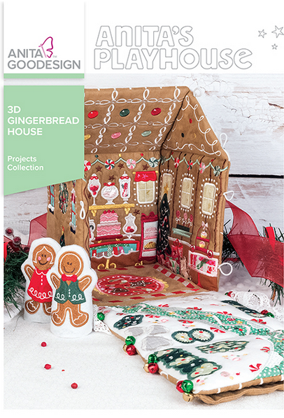 Anita Goodesign 3D Gingerbread House Embroidery Designs