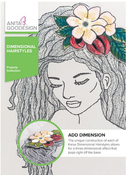 Anita Goodesign Dimensional Hairstyles Embroidery Design