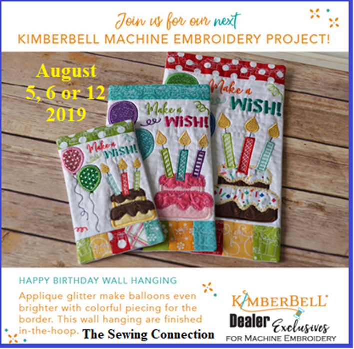 Kimberbell Embroidery Workshop August 2019