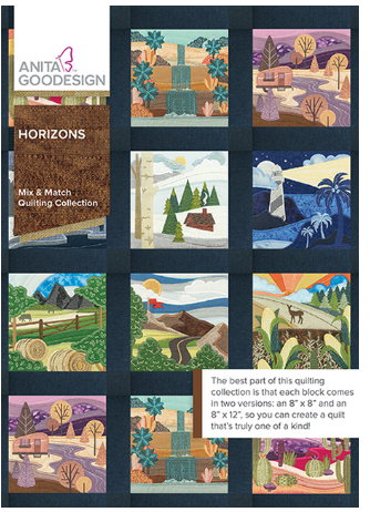 Anita Goodesign Horizons Mix & Match Quilting Collection Embroidery Designs