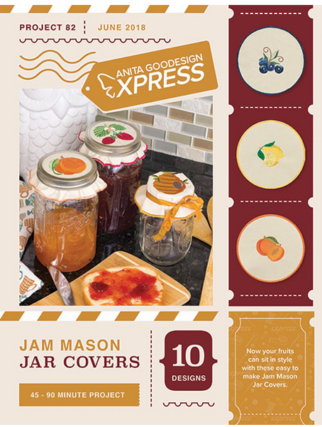 Anita Goodesign Express Jam Mason Jar Covers Embroidery Designs