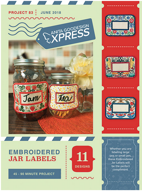 Anita Goodesign Express Embroidered Jar Labels Embroidery Designs