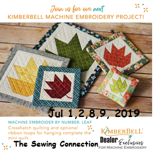 Kimberbell Embroidery Workshop July 2019
