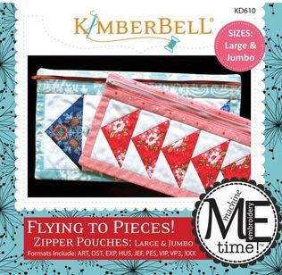 Flying to Pieces Zippered Bags - Embroidery Designs