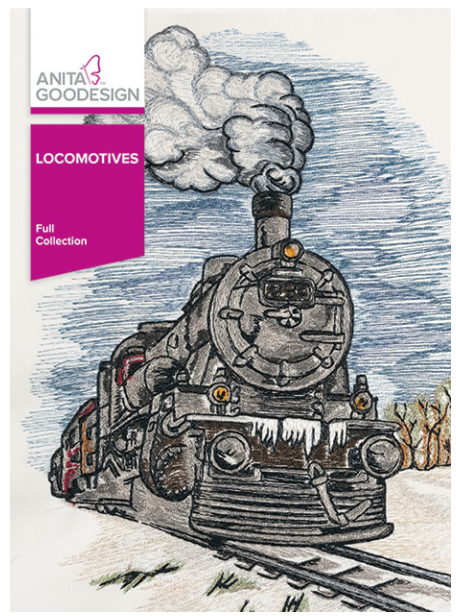 Anita Goodesign Locomotives Embroidery Designs