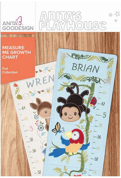 Anita Goodesign Measure Me Growth Chart Full Collection Embroidery Designs