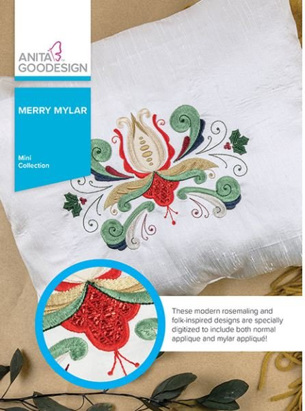 Anita Goodesign Merry Mylar Embroidery Collection