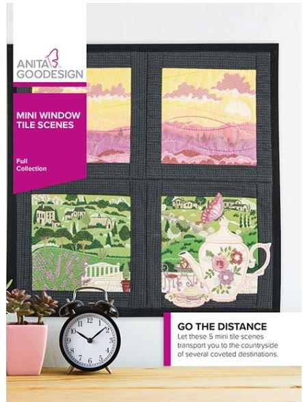 Anita Goodesign Mini Window Tile Scenes Embroidery Designs