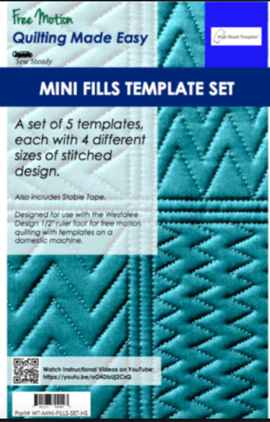 Mini Fills Template Set HS by Sew Steady