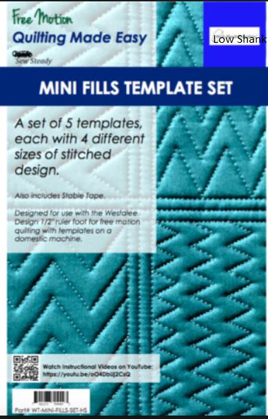 Mini Fills Template Set LS by Sew Steady
