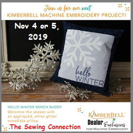 Kimberbell Embroidery Workshop Nov 2019