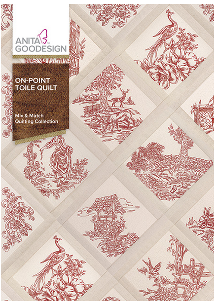 Anita Goodesign On-POINT Toile Quilt Embroidery Designs (Mix & Match)
