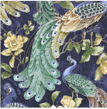 All Over Peacock Plume-CM6590-Pacific by Timeless Treaures 100% Cotton Fabric