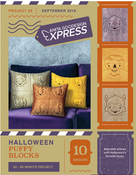 Anita Goodesign Express Halloween Puffy Blocks Embroidery Design