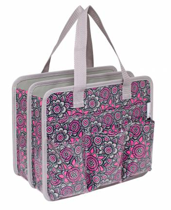 Carry All Tote w/Handles Grey/Pink