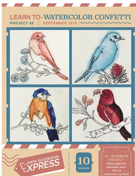 Anita Goodesign Express Watercolor Confetti Embroidery Design