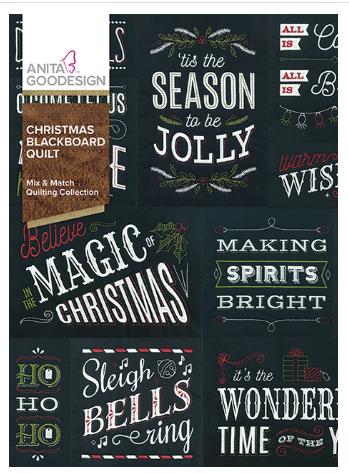 Anita Goodesign Christmas Blackboard Quilt Embroidery Design