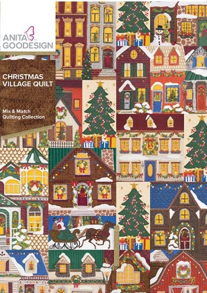 Anita Goodesign Christmas Village Quilt Quilting Collection  Embroidery Design