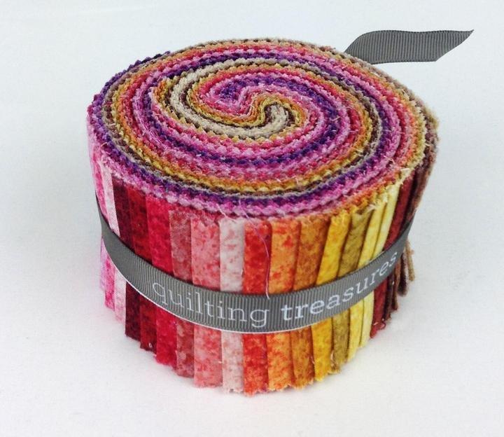 QT FABRICS Color Blends Warm Strips