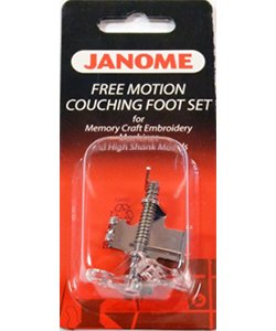 Free Motion Couching Foot for High Shank