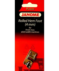 Rolled Hem Foot  (4mm) for 9MM machine