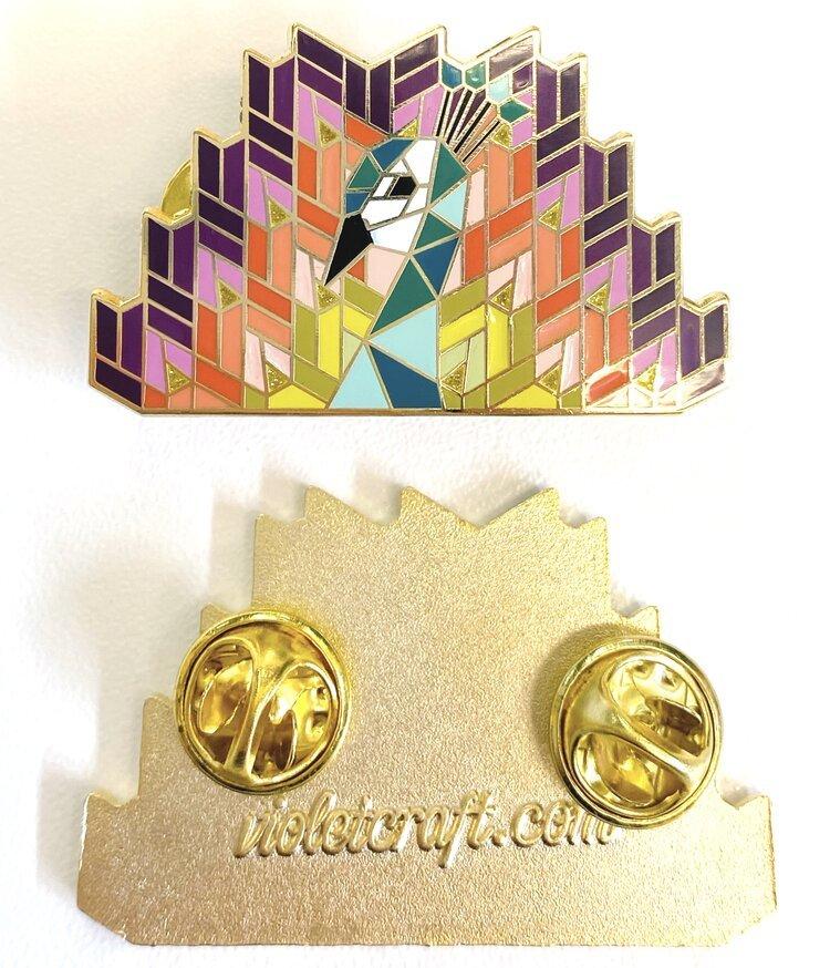 Violet Craft Pins