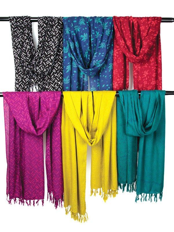 Bazaar Rayon Batiks Scarves