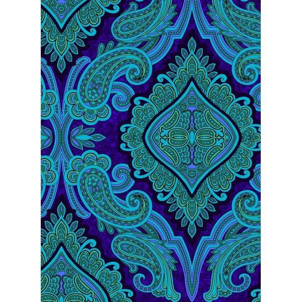 Aruba-Paisley Purple Fabric