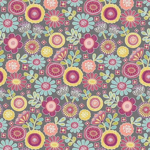 small Sunshine Floral DarkGrey