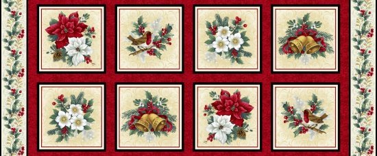 Holiday Trimmings Pattern 8598 color 088 Red