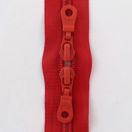 30 in Barberry Double Pull Zipper Medium