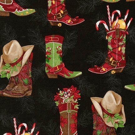 Holly Jolly Christmas AMK 15181-2-Black