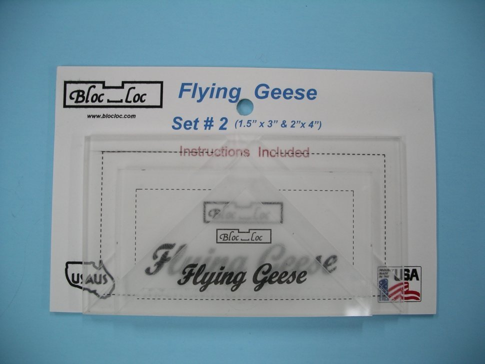 Block Lock Ruler-Flying Geese Set 2