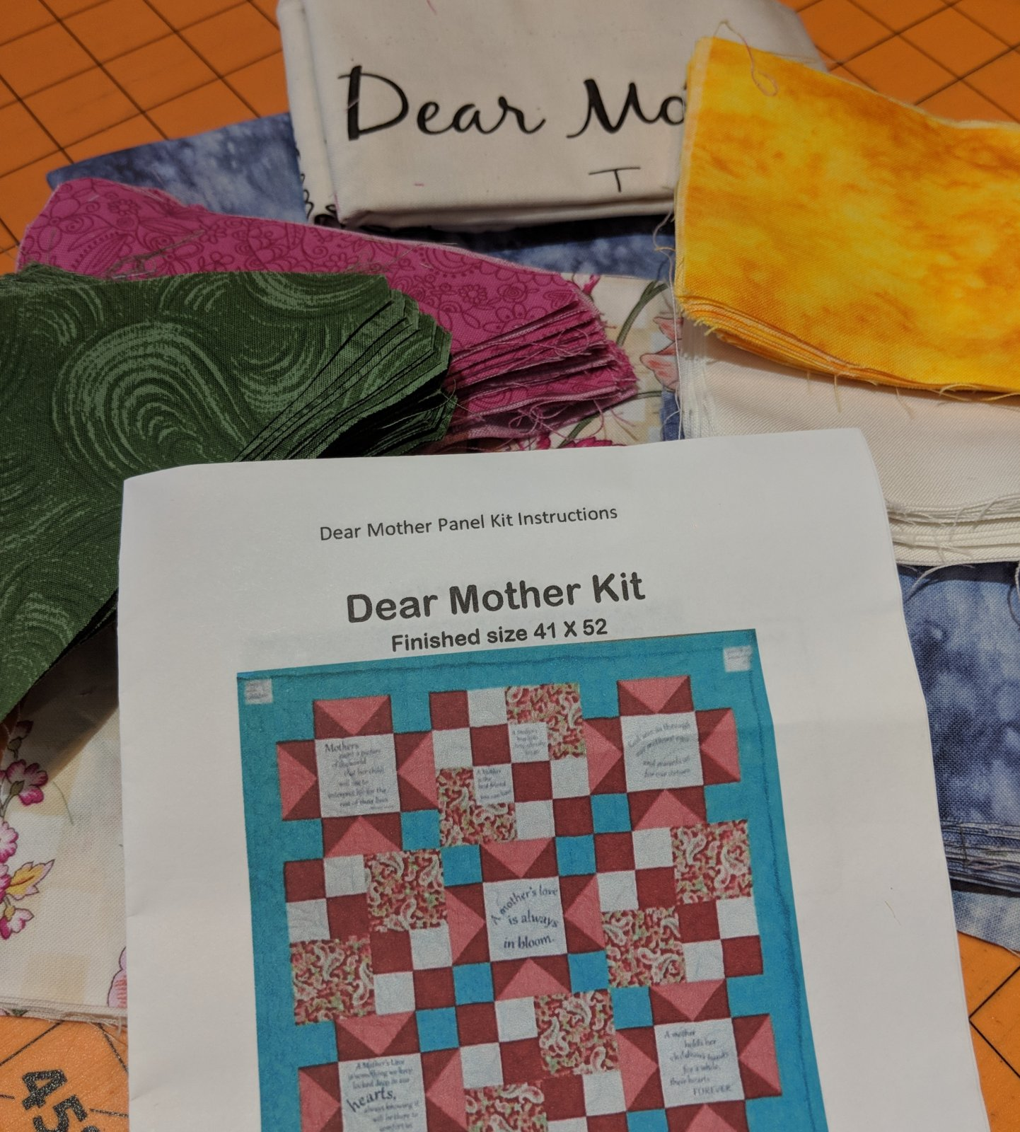 Dear Mother Kit  finishes 41'' x 52''