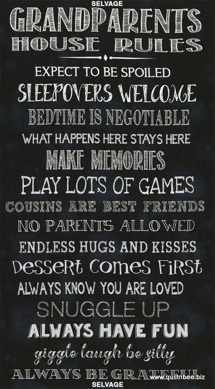 Grandparents Rules 24 x 44