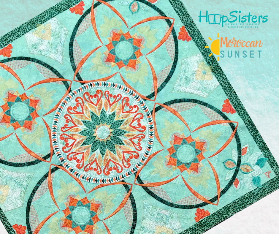 Moroccan Sunset Embroidery Block of the Month Starts March 2020