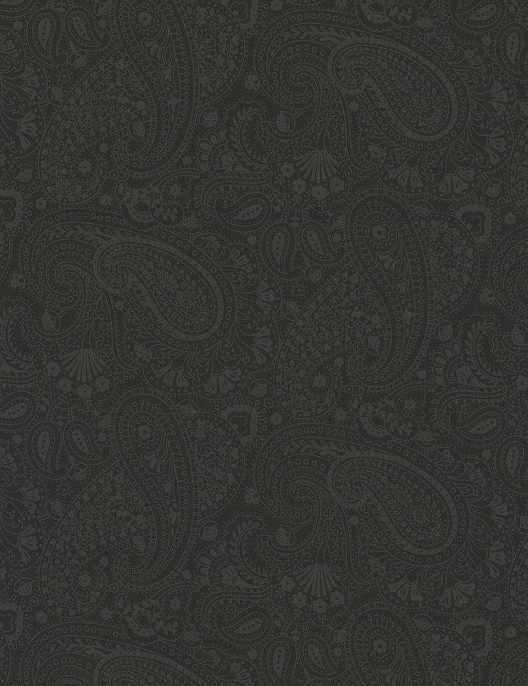 Hue C5135 Black Paisley