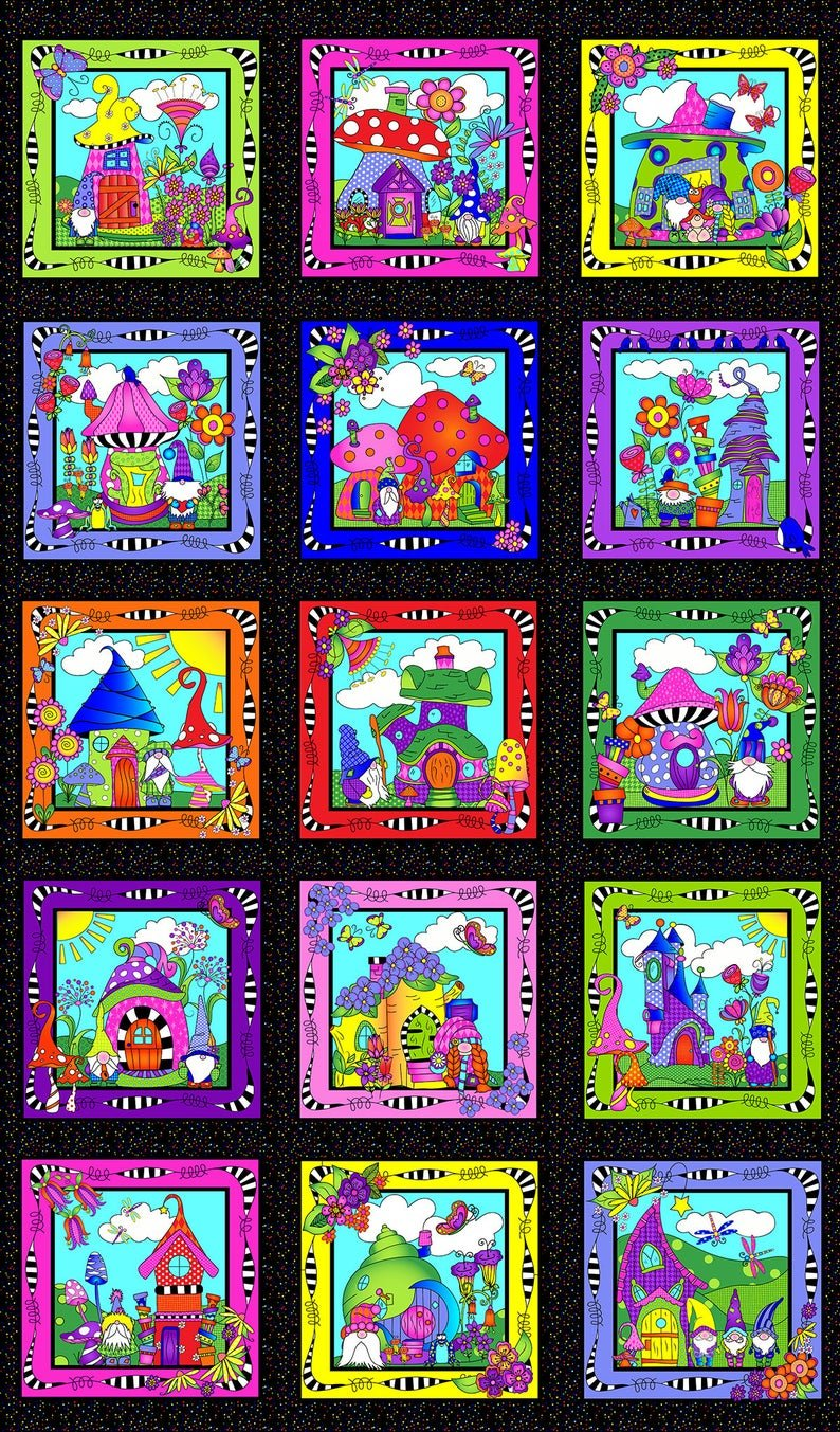 Garden Gnomes Panel 24 X 38