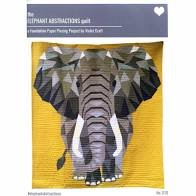 Elephant Abstraction Quilt fabric Kit 54 X 60