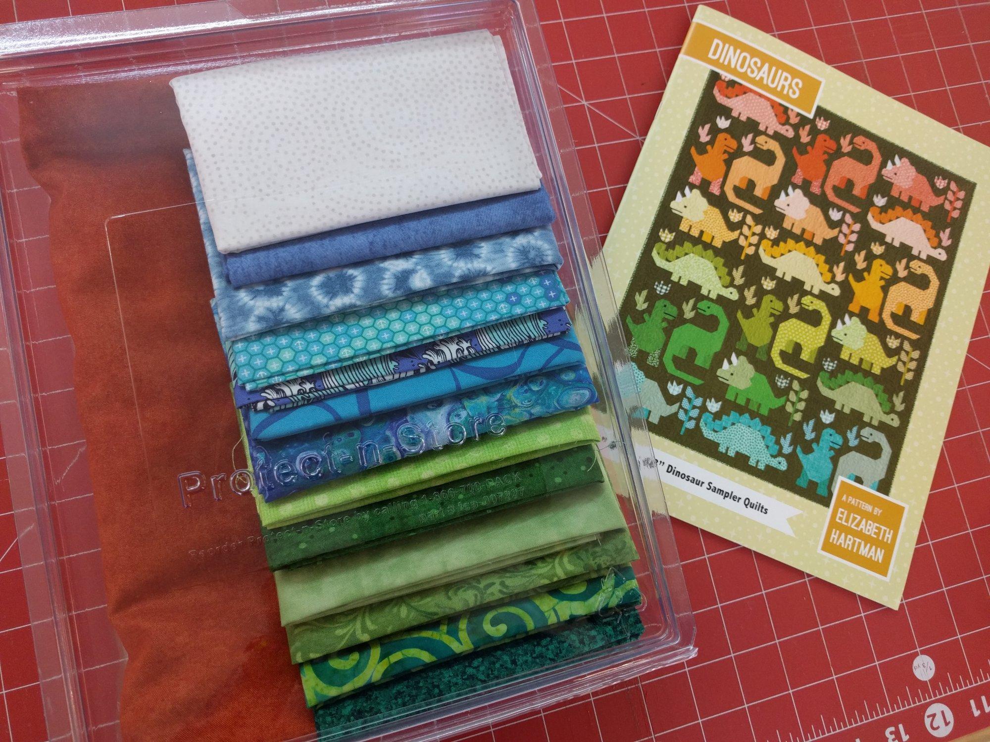 Dinosaurs lap quilt kit