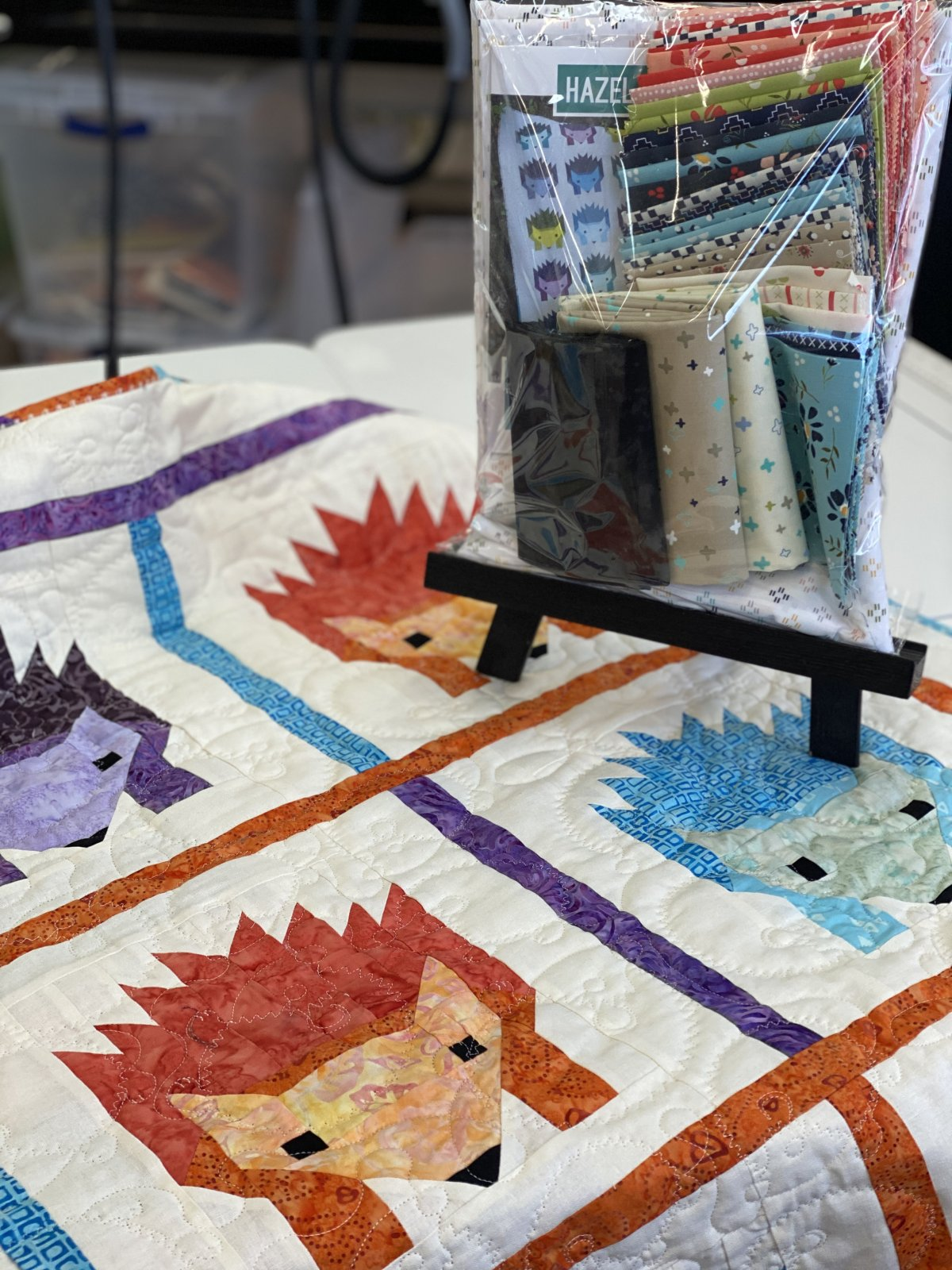 Hazel Hedgehog Lap quilt
