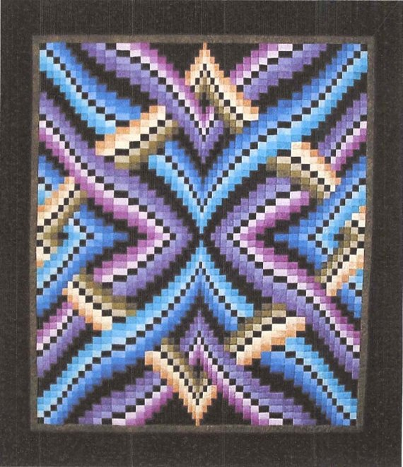 Interlinked Bargello Quilt By Dereck C.Lockwood
