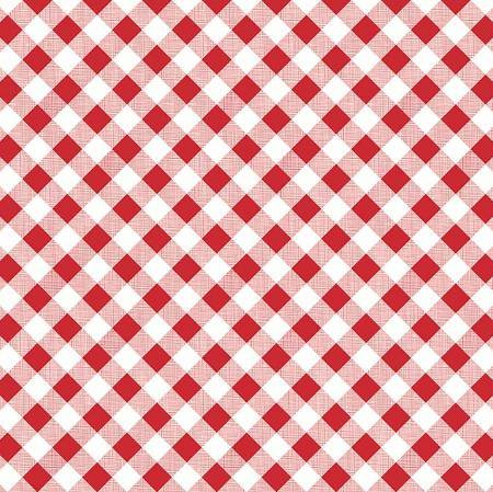 Red Check 1/2 yd cut
